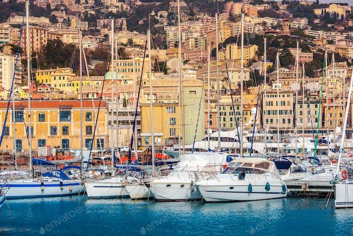 Genoa Seaport and Cityscape