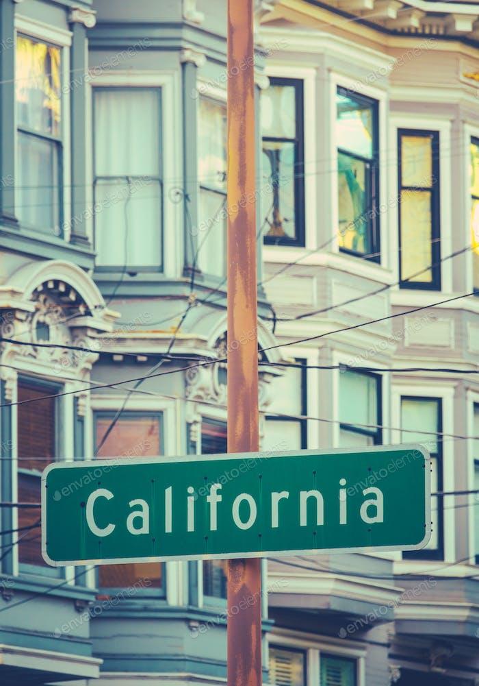 Retro California Street Sign