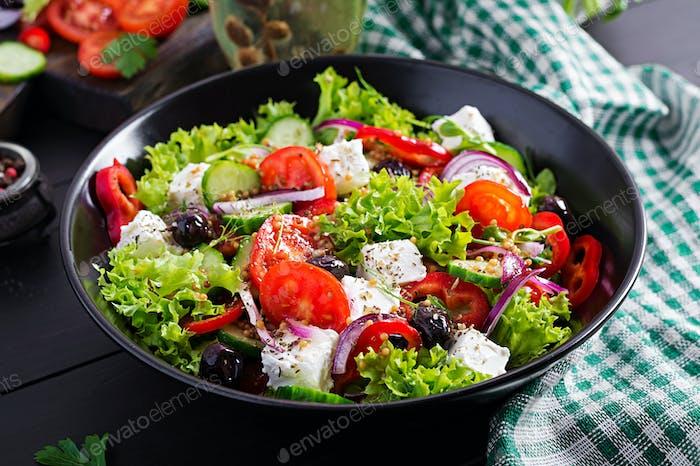 Healthy food. Greek salad