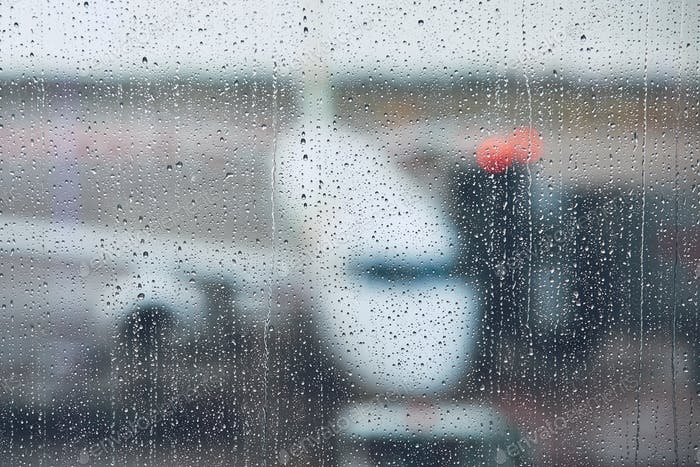Storm at the airport