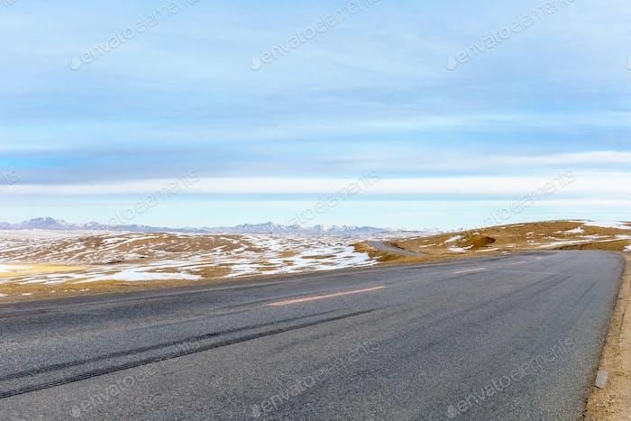 дорога на плато