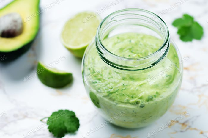 Greek yogurt avocado cilantro lime dressing