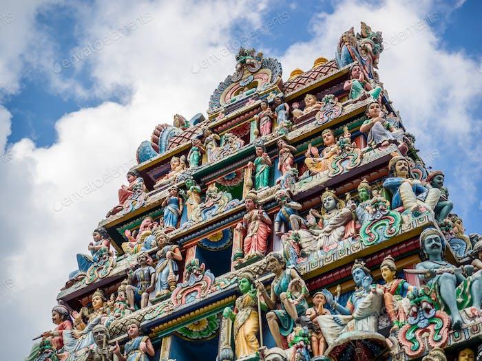 The Sri Mariamman Hindu Temple in Chinatown, Singapore