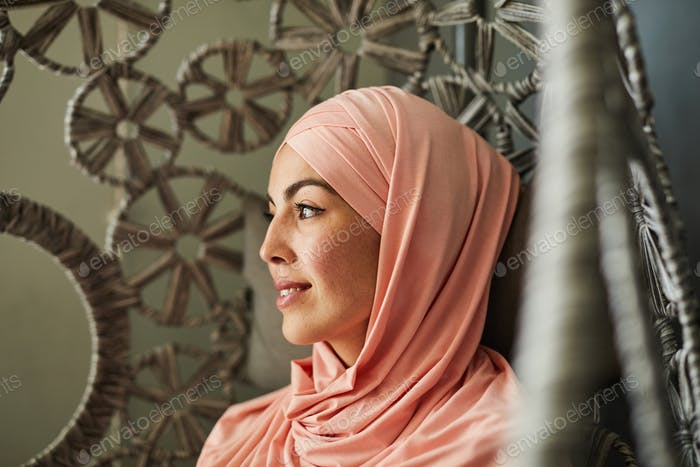 Pretty smiling Muslim woman