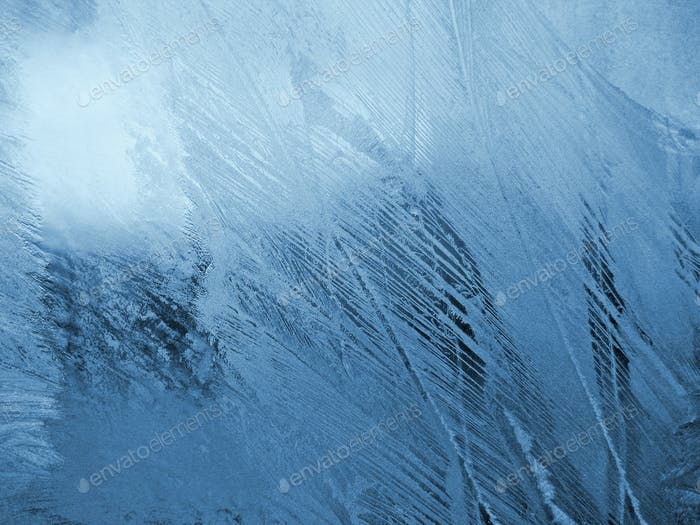 синий морозный натуральный узор