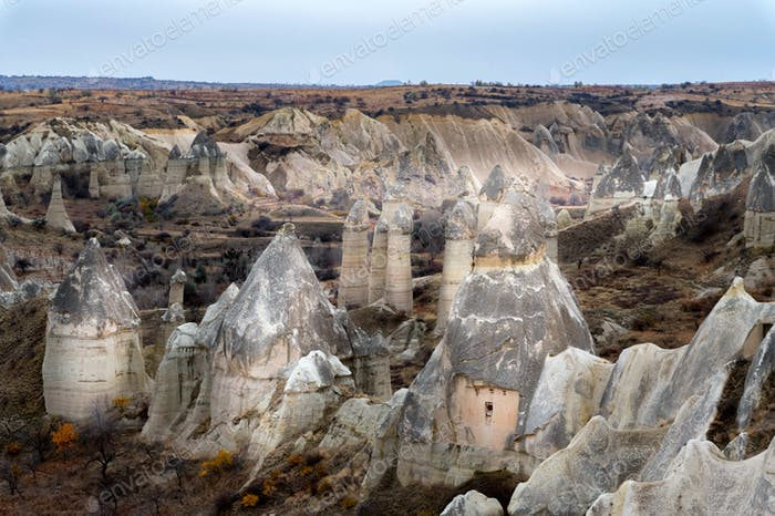 Amazing rocks in Love Valley in Cappadocia, Goreme, Turkey
