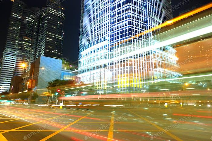 traffic by night