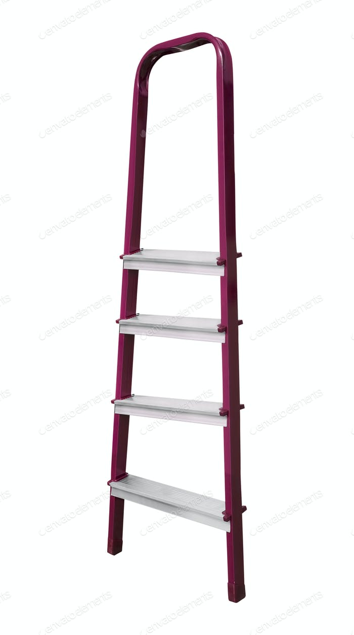 metal ladder isolated