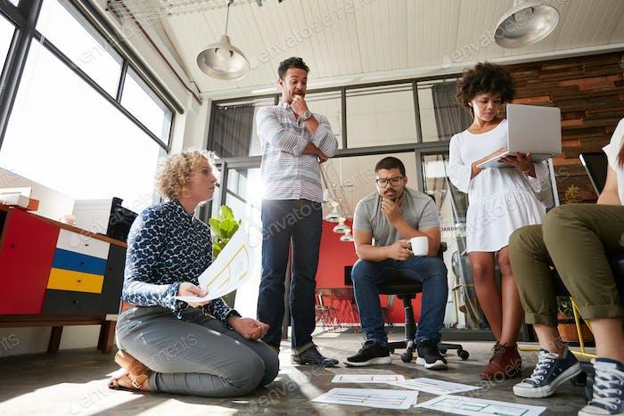 Team of creative people having a meeting