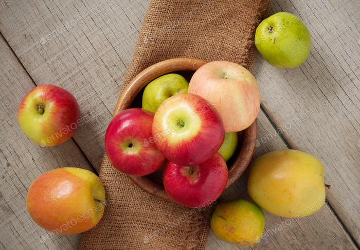 fruits on wooden floor