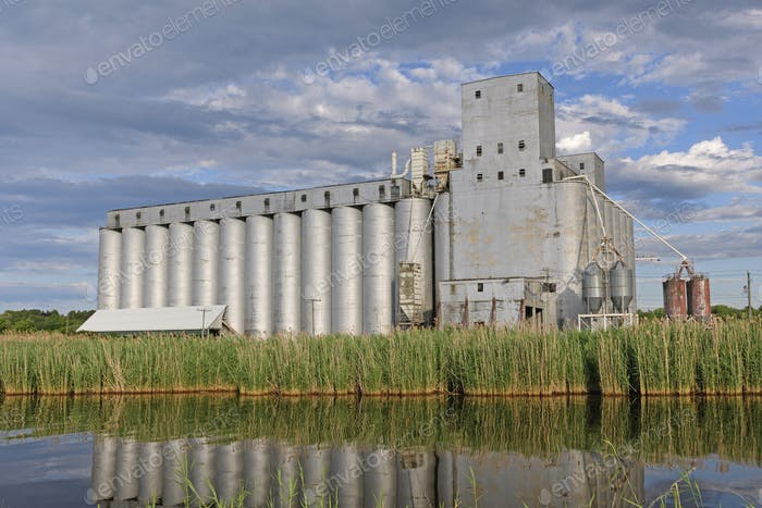 Bucolic Grain Elevator in the sun