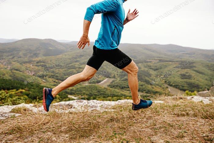 man runner run mountain trail