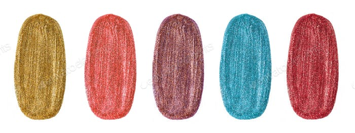 various color glitter nail polish