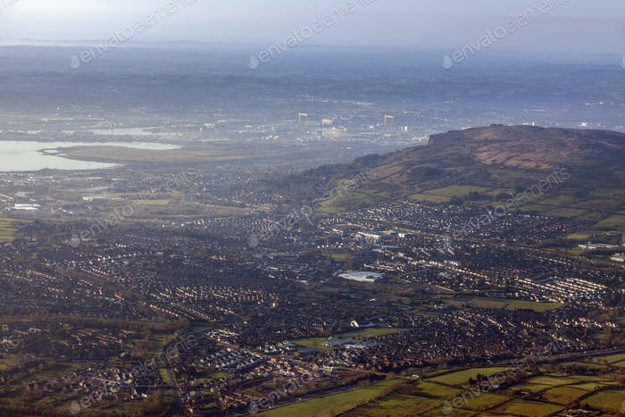Aerial view of Belfast area