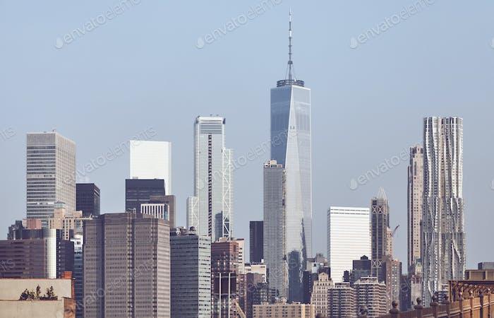 New York City iconic skyline.