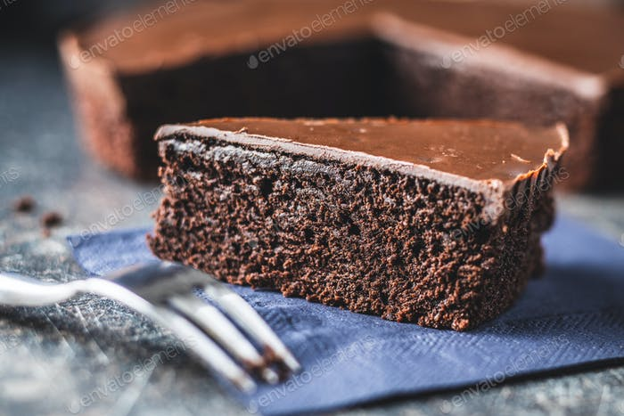 Chocolate brownies cake.