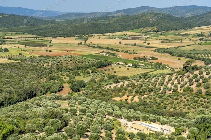 Maremma landscape from Capalbio, Tuscany