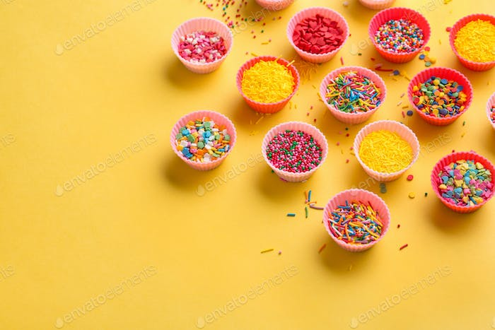 Different sprinkles, selective focus