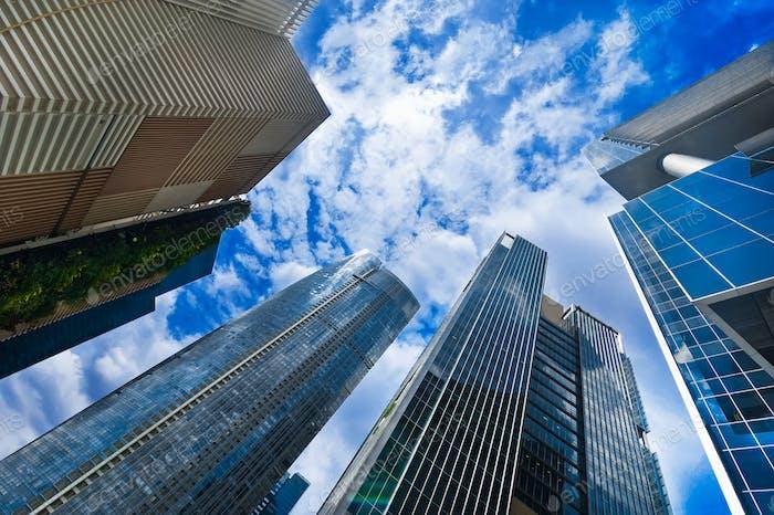 Urban landscape. Skyline of modern skyscrapers