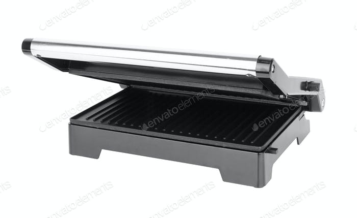 electric grill isolated on a white background