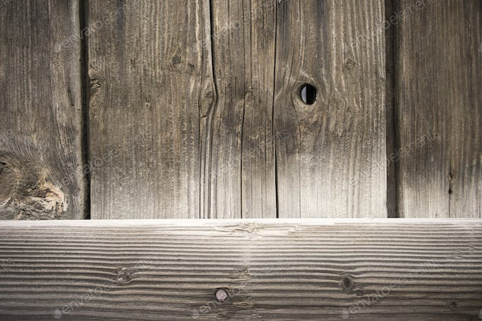 Weathered Barn Wall Wood Grain Plank Knot Nail
