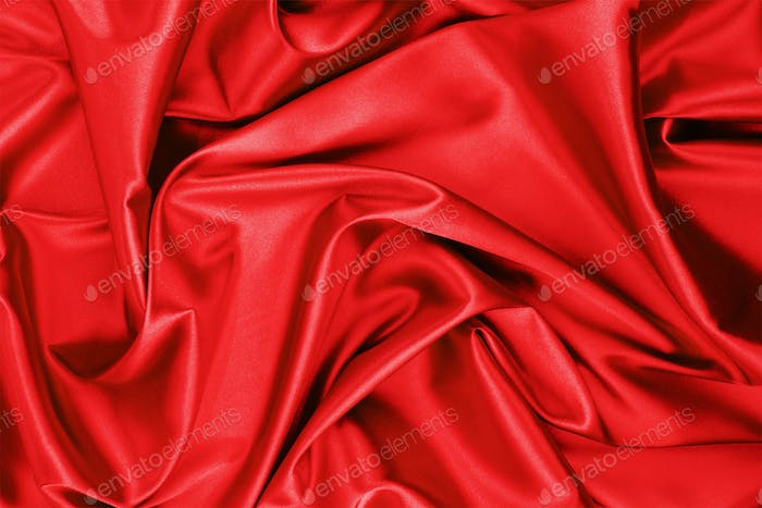 red satin or silk fabric