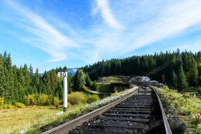 Railways in the Carpathian mountains