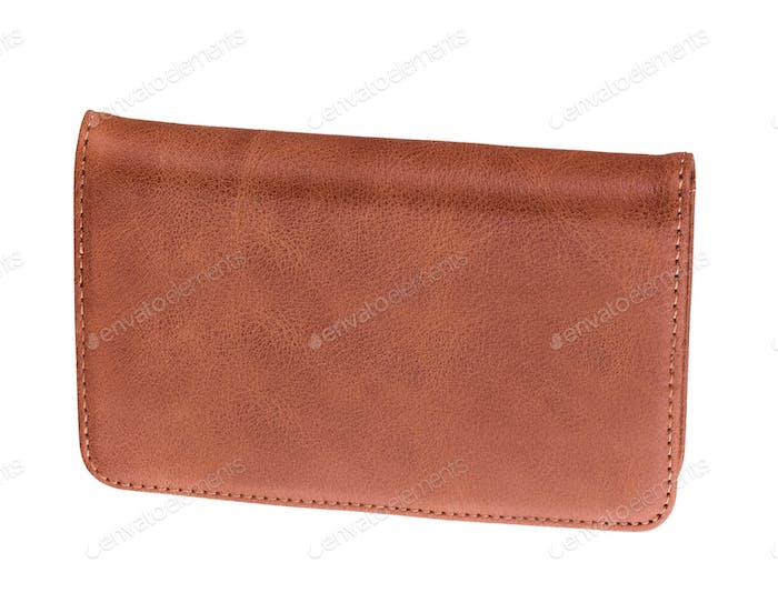 men's leather wallet isolated