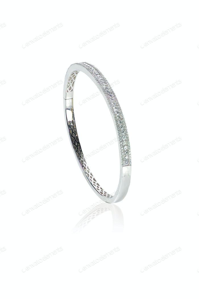 Silver Diamond Bracelet Upstanding
