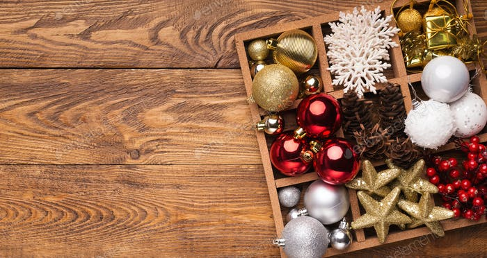 Christmas and New Year holiday decoration background