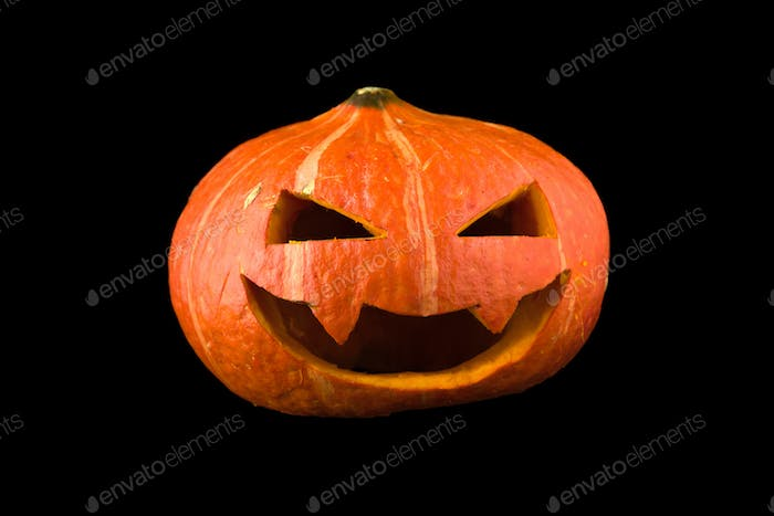 Halloween concept Pumpkin isolated on black background