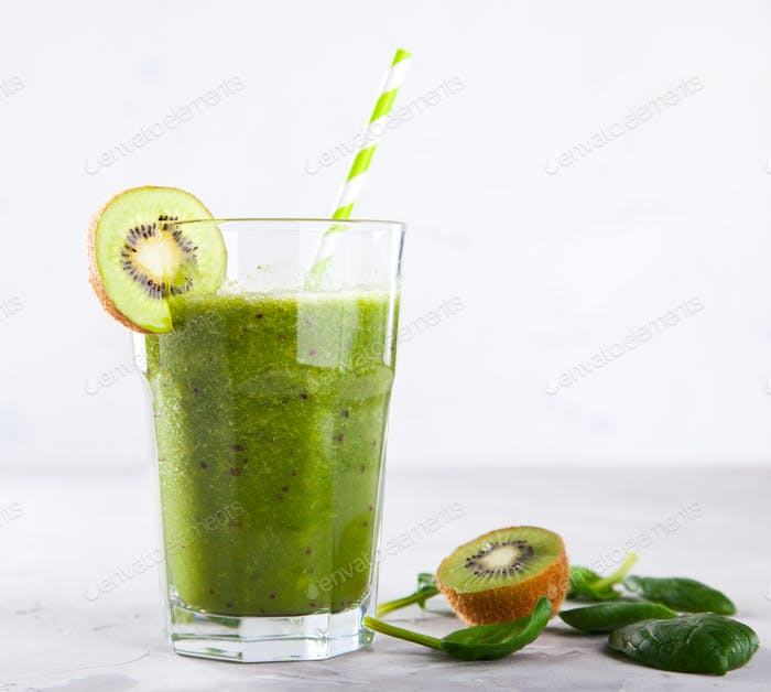 Smoothies Green. Drink Cocktail .Food or Healthy diet concept.Vegetarian.