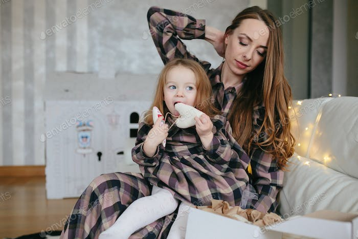 Young mother with adorable baby