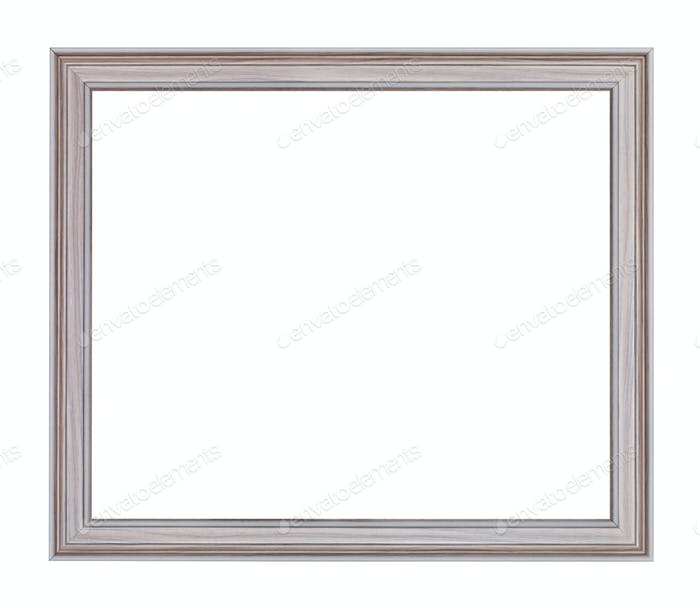 empty modern gray carved wooden picture frame