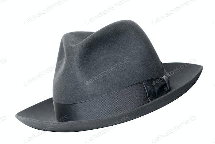 retro black hat isolated on white
