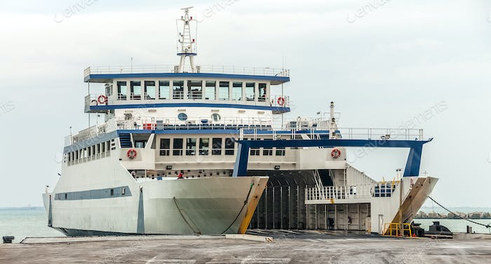 Passenger ferry docked