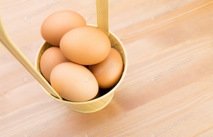 Egg in bucket