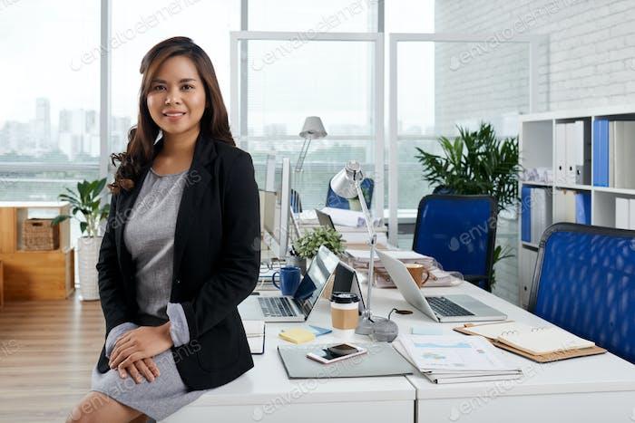 Beautiful Elegant Business Lady