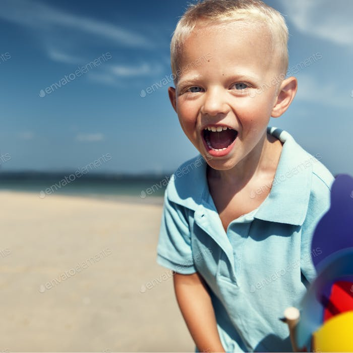 Thumbnail for Beach Sibling Child Wind Carefree Fun Playful Concept