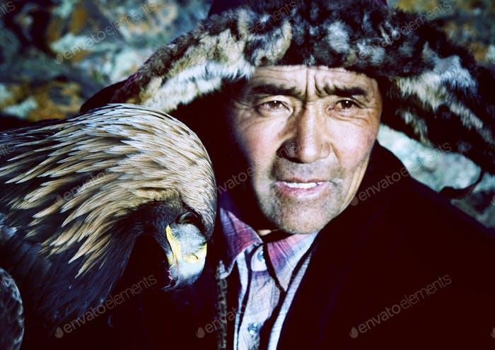 Mongolian Man with Traditional Lifestyles Culture Concept
