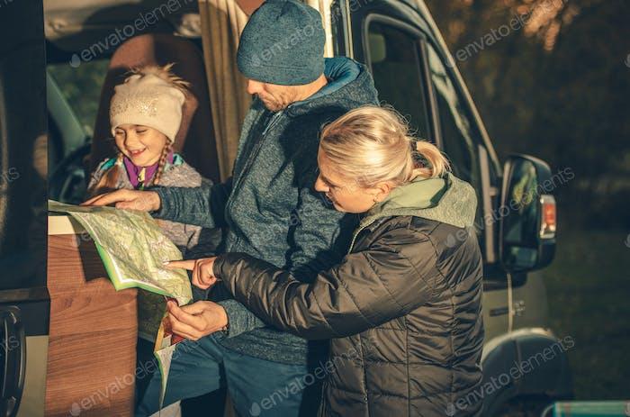 Familiencamper Reiseplanung