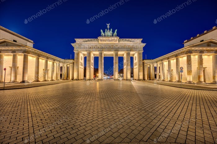 The illuminated Brandenburger Tor