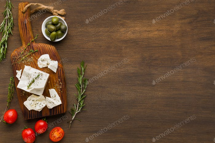 Greek cuisine recipes concept