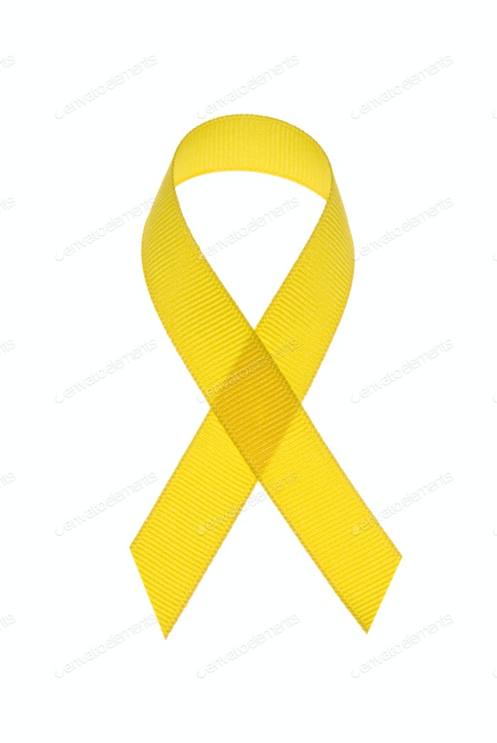 Yellow cancer awareness ribbon