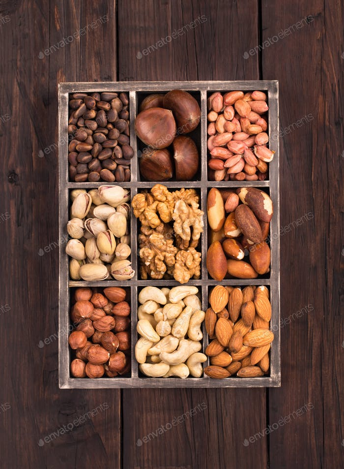 Old box of nuts