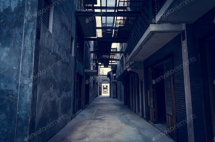 Alley way in Bangkok city