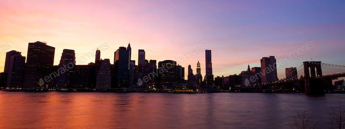Puente de Brooklyn y Manhattan