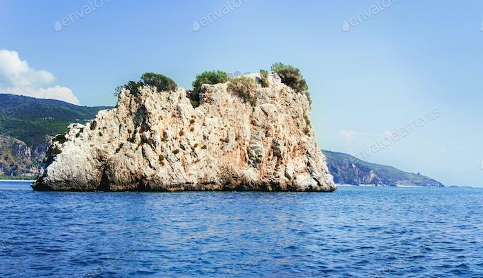 Rock island near at Cape Palinuro