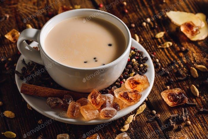 Warming Masala Chai mit Gewürzen