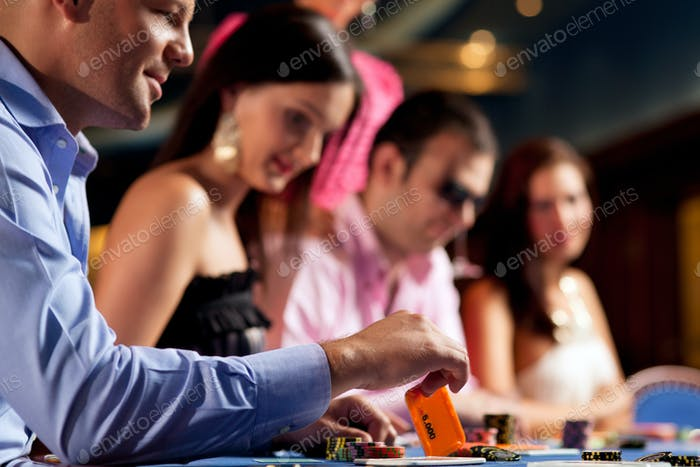 poker players at the table